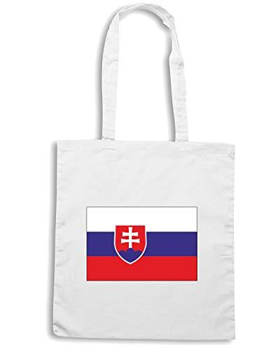 Borsa TM0242 Shopper FLAG SLOVAKIA Shirt Bianca Speed CSfwqv