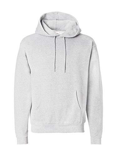 Hanes Men's Pullover EcoSmart Fleece Hooded Sweatshirt, ash, 5X Large