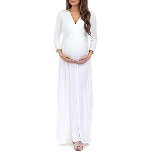Women's Wrapped Ruched Maternity Dress