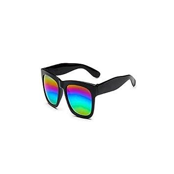 Amazon.com: garrelett color lentes de espejo cuadrado grande ...