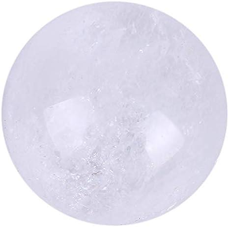 Sothat Piedras Preciosas de CuracióN de Bola de Esfera de Cristal de Cuarzo Claro Natural