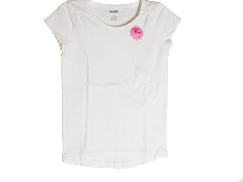 Gymboree Clothes White Blouse with Pink Rose (5)