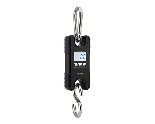 Mini Crane Scale,Klau Portable 500 kg / 1000 lb Heavy Duty Digital Hanging Scales LCD Display with Backlight for Home Farm Market Fishing Hunting Black (Digital Scales Hanging)