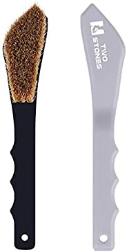 TWO STONES Boar Hair Rock Climbing Brush with Ergonomic Handle, Bouldering Boulder Brush as Durable Cleaning T