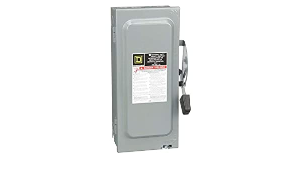 Square D Safety Switch, 1 NEMA Enclosure Type, 60 Amps AC, 15 HP @ 240VAC HP: Amazon.com: Industrial & Scientific