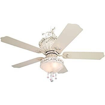 52 casa chic ceiling fan with pretty and pink light kit amazon 52 casa chic ceiling fan with pretty and pink light kit aloadofball Image collections
