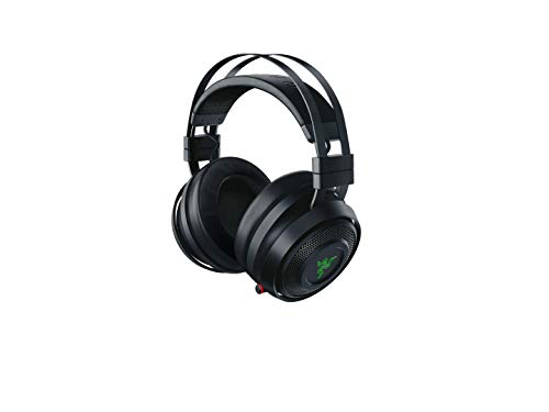 - Razer Nari Wireless 7.1 Surround Sound Gaming Headset: THX Spatial Audio - Auto-Adjust Headband & Swivel Cups - Chroma RGB - Retractable Mic - for PC, PS4, Xbox One