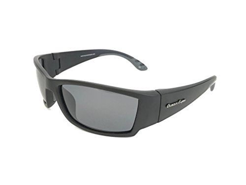 Ocean Eyes Fish On Polarized Sunglasses - Black Frame/Matte Finish, Smoke - Sunglasses Eyes Ocean
