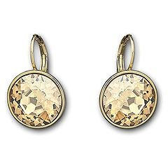 Swarovski Bella Golden Shadow Pierced Earrings