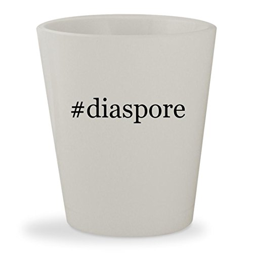 #diaspore - White Hashtag Ceramic 1.5oz Shot Glass
