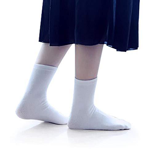 3 Pairs Japanese Tabi Sock Kimono Geta Clog Flip Flop Split Toe Athletic Sports Crew Unisex Ninja Two-Toe Socks (White)
