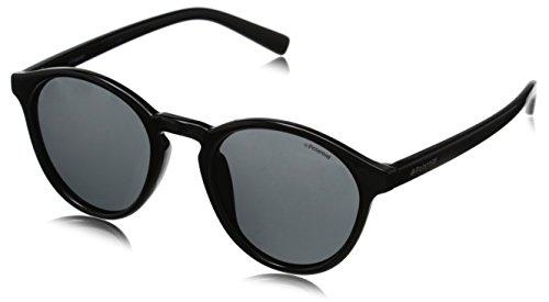 Grey Black S PLD Shiny Noir soleil Homme 1013 de Lunette Ronde Polaroid Pz BPWqxwXvtn