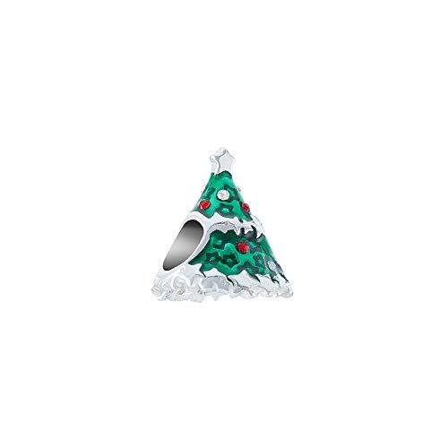 Chamilia Starstruck Christmas Tree - Swar Lt.Siam/Clear Crystal, Grn Enamel Charm, Multi, One ()
