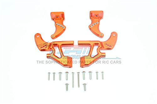 Traxxas E-Revo 2.0 VXL Brushless (86086-4) Upgrade Parts Aluminum Rear Wing Mount Full Set - 4Pc Set Orange