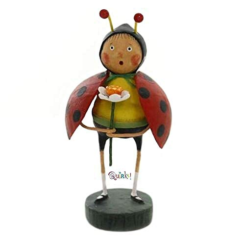 Figurine Bug - Lori Mitchell Little Ladybug Polyresin Spring Flower Insect 11130