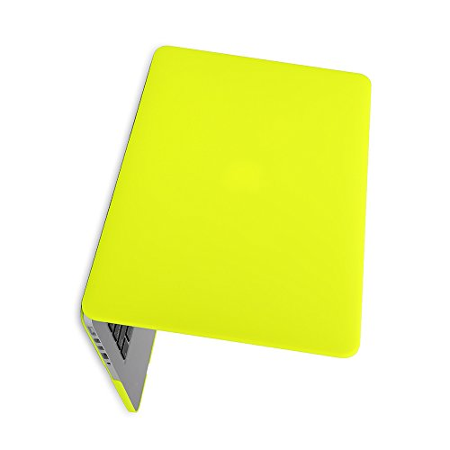 Matte Rubberized Hard Case Cover for Macbook ProLaptop Shell- Air 13 inch Yellow by TOOGOO (Image #1)