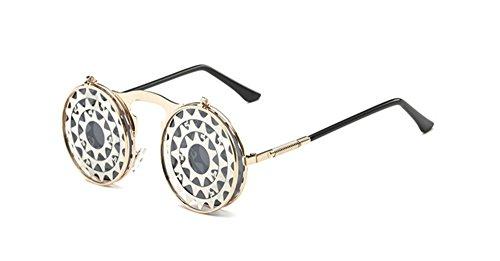 femmes C9 soleil de pour style lunettes et soleil hommes gothique de flip vintage de lens Lunettes 1Za6xwn5Z