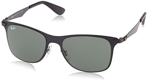 ec693b9779f Ray-Ban STEEL MAN SUNGLASS - MATTE BLACK Frame GREEN Lenses 52mm  Non-Polarized