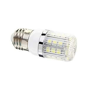 Ledtcx E27 4W 30x5050SMD 400LM 6000-6502K Cool White Light LED Corn Bulb(AC 110-130V)