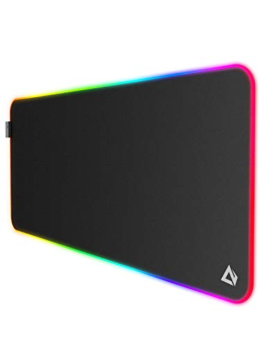 """AUKEY RGB Gaming Mouse Pad, Large & Extended Water-Resistant Mouse Pad (35.4"""" x 15.75"""" x 0.15"""") with 11 LED Lighting Effects, Smooth Surface, and Non-Slip Rubber Base"""