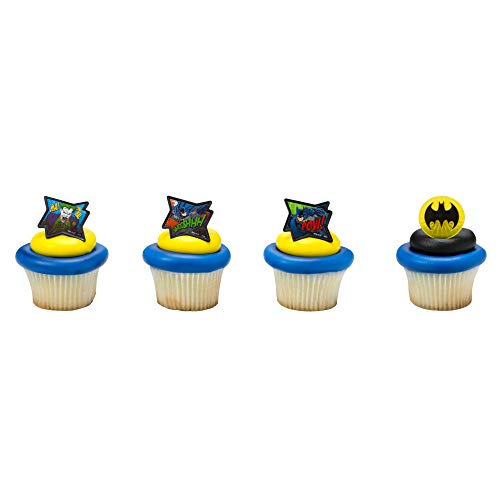 Baking Addict Cupcake Topper Decorations Cake Pop Dessert Decorating Rings Batman Pow Whooshhh, Wholesale Case of 864 (6 Packs of 144) ()