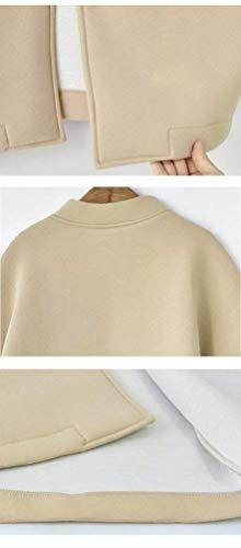 Outdoor Outerwear Bottoni Colore Cappotto Autunno Chiusura Mode Casuale Jacket Baseball Giubbino Primaverile Elegante Con Moda Khaki Marca Tasche Di Donna Puro H4IqS