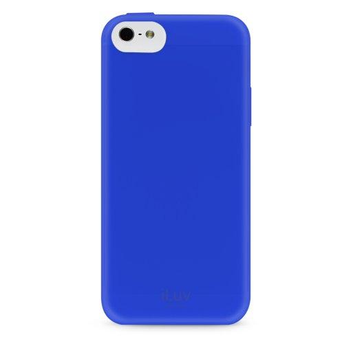 iLuv Gelato TPU Case for iPhone 5C - Retail Packaging - Blue (Iluv Gelato Case)