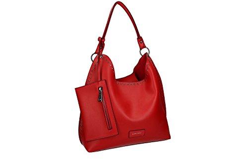 Borsa donna a spalla PIERRE CARDIN rosso con apertura zip VN1717