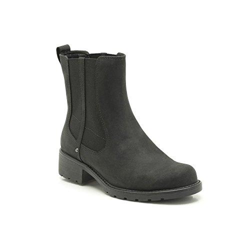 Clarks Womens Boot Orinoco Club Black Leather 6.5