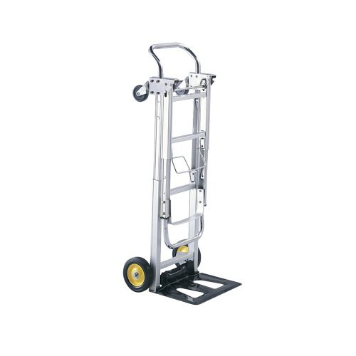 Safco Hideaway Products - Safco Products 4050 Hide-Away Convertible Utility Hand Truck, Silver by Safco Products