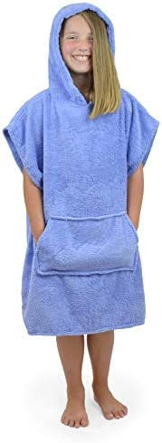 Surfing Swimming Bathing 100/% Cotton Changing Robe with Pockets CityComfort Kids Hooded Towel Poncho Beach Boys and Girls Hooded Towelling Poncho Ideal for Holidays