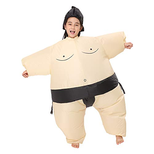 Decalare Dinosaur/Unicorn/Sumo/Bull Inflatable Costume Suit Halloween Cosplay Fantasy Costumes Kids (Child-Sumo)