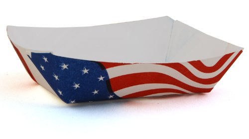 Southern Champion Tray 0530 #25 Paperboard USA Flag Food Tray, 1/4-lb Capacity (Case of 1000)