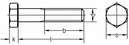 Reidl Sechskantschrauben mit Schaft 12 x 130 mm DIN 931 10.9 blank 1 St/ück