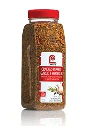 Lawrys Cracked Pepper Garlic and Herb Rub, 24 Ounce -- 6 per case. by McCormick