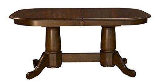 A-America ROAMO6300 Roanoke Dining - Molasses Double Pedestal Table with 18