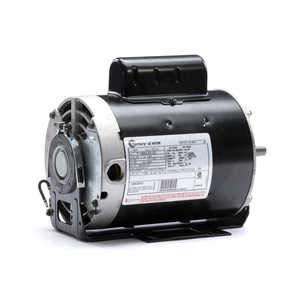 - 1/3 hp 3450 RPM 48 Frame 115/230V Belt Drive Cap Start Blower Motor Century # B171