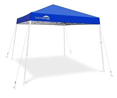 EAGLE PEAK 10' x 10' Slant Leg Pop Up Canopy Tent Instant Outdoor Canopy Easy Set-up Folding Shelter