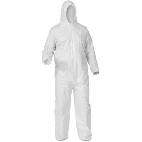 - KleenGuard A35 Liquid & Particle Protection Coverall, L, White, 25/Case(38938)