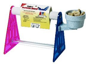 Pollys Pet Products Grooming Bird Stand Size Large 7 5/8 x 10in Assorted Colors, My Pet Supplies