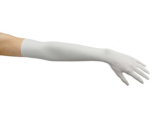 Classic Charisma Matte Satin Opera Length Finale Gloves, Ivory