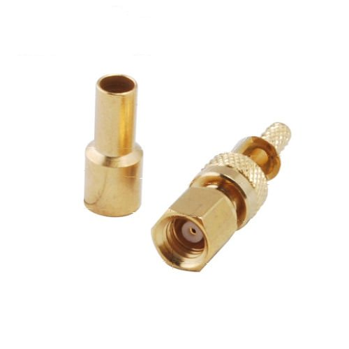 RF SMC Female Plug Straight Crimp Coaxial Connector for RG174 RG179 RG316 Cable USA Shipping