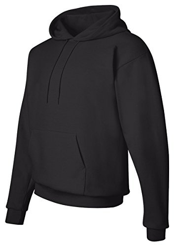 Hanes Youth ComfortBlend EcoSmart Pullover Hooded Sweatshirt, L, Black