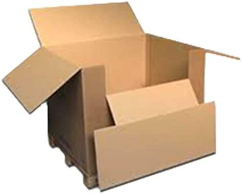 Disset Odiseo PACK0675 Caja de Carton con Solapa, Cierre Americano ...