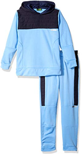 (RBX Boys' Big Pullover Fleece Hoodie and Jogger Set, University Blue/Navy, 12)