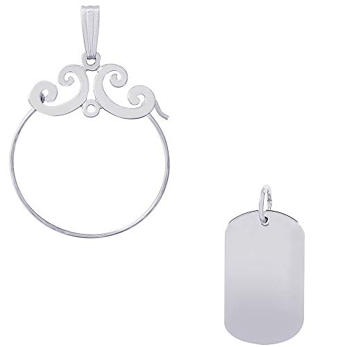 Rembrandt Charms Dog Tag Accent Charm on a Rembrandt Charms Carefree Charm Holder