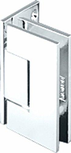 C.R. LAURENCE JRG044SC CRL Satin Chrome Junior Geneva 044 Series Wall Mount Offset Back Plate Hinge