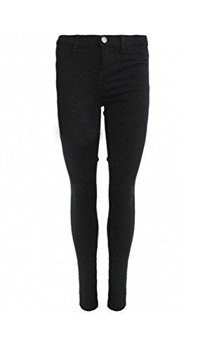 Ladies Womens leggins Jeans Leggings Skinny Fit elástico pantalones de Treggings Plus Size negro
