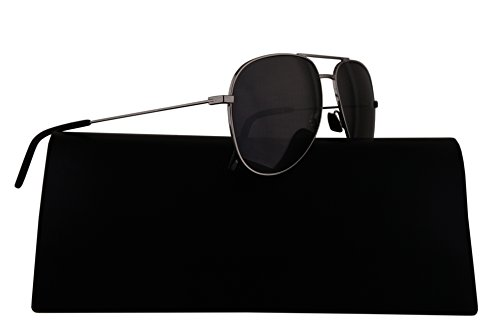 Saint Laurent Sunglasses Classic 11 Silver w/Grey Lens 59mm 010 - Laurent Saint 11 Sunglasses Aviator Classic