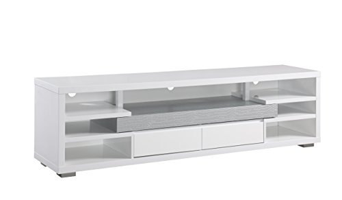 HOMES: Inside + Out IDI-161521 ioHOMES Trena Contemporary TV Stand, White Contemporary Modern Tv Stand